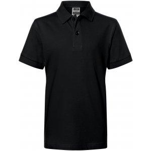 Dětské triko s límečkem premium JAMES NICHOLSON JN070K BLACK