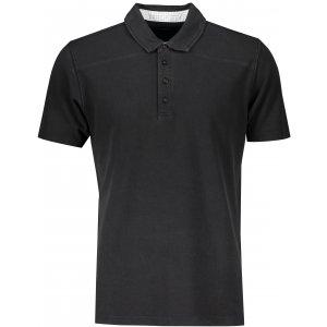 Pánské triko s límečkem fashion JAMES NICHOLSON JN712 BLACK/WHITE TITAN