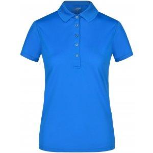 Dámské triko s límečkem funkční premium JAMES NICHOLSON JN574 COBALT