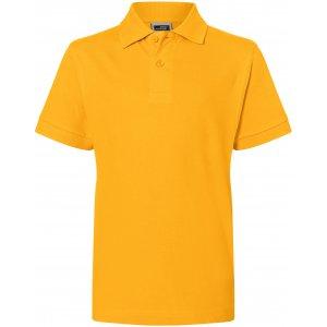 Dětské triko s límečkem premium JAMES NICHOLSON JN070K GOLD YELLOW