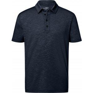 Pánské triko s límečkem žíhané JAMES NICHOLSON JN752 NAVY