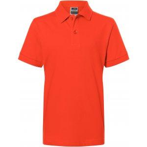 Dětské triko s límečkem premium JAMES NICHOLSON JN070K GRENADINE