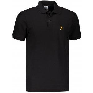 Pánské premium triko s límečkem ALTISPORT ALM002203 ČERNOZLATÁ