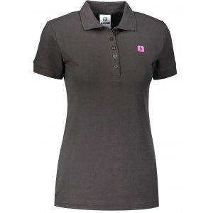 Dámské triko s límečkem ALTISPORT ALW065210 EBONY GREY