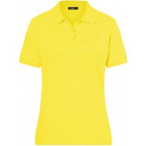 Dámské triko s límečkem premium JAMES NICHOLSON JN071 YELLOW