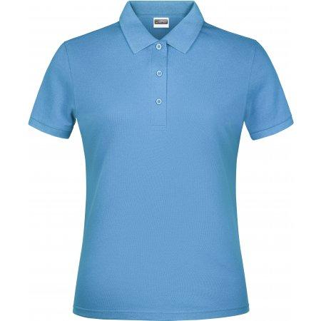 Dámské triko s límečkem classic JAMES NICHOLSON JN791 SKY BLUE