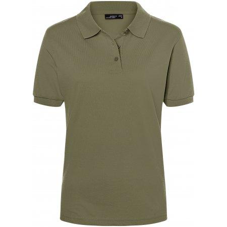 Dámské triko s límečkem premium JAMES NICHOLSON JN071 OLIVE
