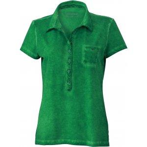 Dámské triko s límečkem fashion JAMES NICHOLSON JN987 FERN GREEN