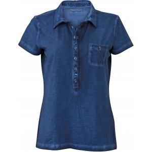 Dámské triko s límečkem fashion JAMES NICHOLSON JN987 DENIM
