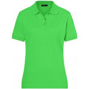 Dámské triko s límečkem premium JAMES NICHOLSON JN071 LIME GREEN