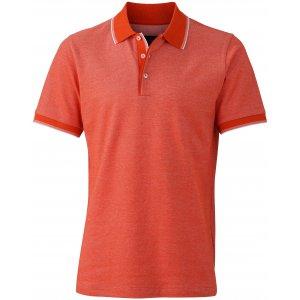 Pánské triko s límečkem trendy JAMES NICHOLSON JN704 GRENADINE/WHITE