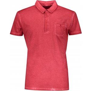 Pánské triko s límečkem fashion JAMES NICHOLSON JN988 CHILI