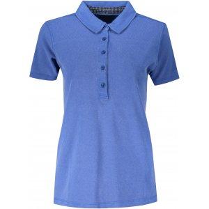 Dámské triko s límečkem fashion JAMES NICHOLSON JN711 ROYAL/NAVY WHITE