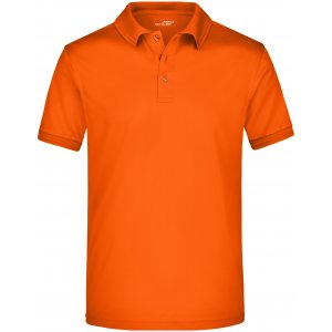 Pánské triko s límečkem funkční premium JAMES NICHOLSON JN576 DARK ORANGE