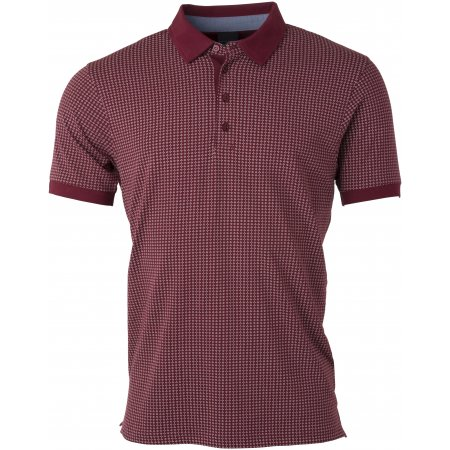 Pánské triko s límečkem JAMES NICHOLSON JN718 WINE/WHITE