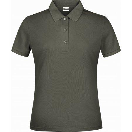 Dámské triko s límečkem classic JAMES NICHOLSON JN791 DARK GREY