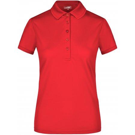 Dámské triko s límečkem funkční premium JAMES NICHOLSON JN574 RED