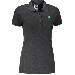 Dámské triko s límečkem ALTISPORT ALW065210 ANTRACITOVÝ MELÍR