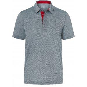 Pánské triko funkční s límečkem JAMES NICHOLSON JN754 NAVY/WHITE