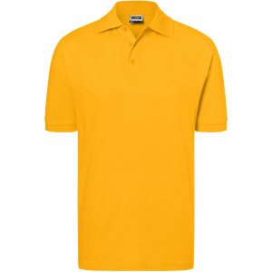 Pánské triko s límečkem premium JAMES NICHOLSON JN070 GOLD YELLOW