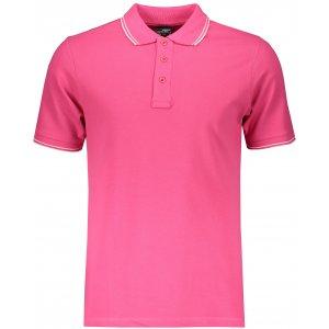 Pánské triko s límečkem JAMES NICHOLSON JN986 PINK/WHITE
