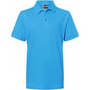Dětské triko s límečkem premium JAMES NICHOLSON JN070K AQUA