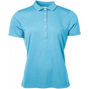 Dámské triko s límečkem funkční classic JAMES NICHOLSON JN719 TURQUOISE