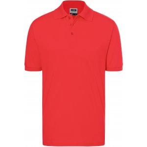 Pánské triko s límečkem premium JAMES NICHOLSON JN070 TOMATO