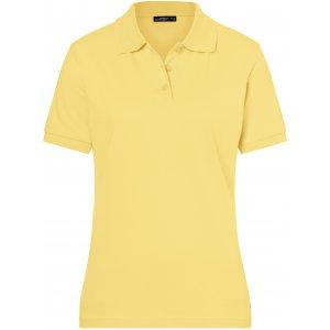 Dámské triko s límečkem premium JAMES NICHOLSON JN071 LIGHT YELLOW