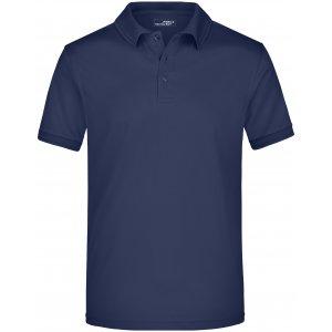 Pánské triko s límečkem funkční premium JAMES NICHOLSON JN576 NAVY