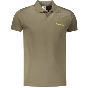 Pánské triko s límečkem ALTISPORT ALM110202 KHAKI