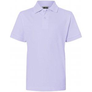Dětské triko s límečkem premium JAMES NICHOLSON JN070K LILAC