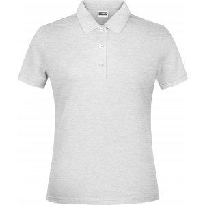 Dámské triko s límečkem classic JAMES NICHOLSON JN791 ASH