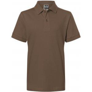 Dětské triko s límečkem premium JAMES NICHOLSON JN070K BROWN