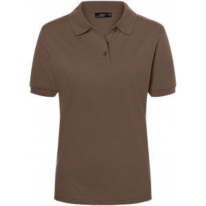 Dámské triko s límečkem premium JAMES NICHOLSON JN071 BROWN
