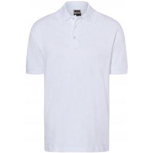 Pánské triko s límečkem premium JAMES NICHOLSON JN070 WHITE