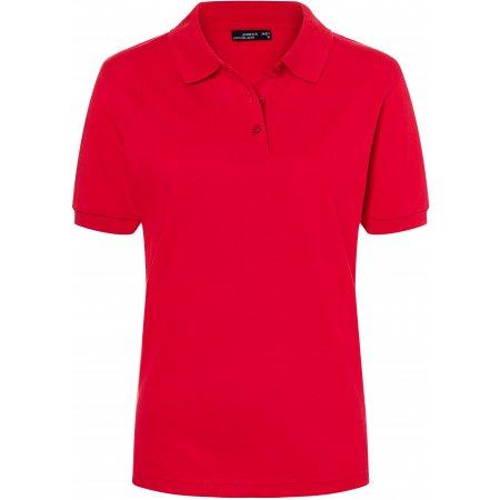 Dámské triko s límečkem premium JAMES NICHOLSON JN071 RED