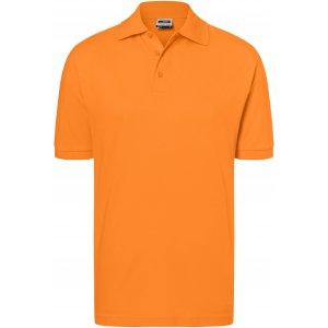 Pánské triko s límečkem premium JAMES NICHOLSON JN070 ORANGE