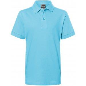 Dětské triko s límečkem premium JAMES NICHOLSON JN070K SKY BLUE
