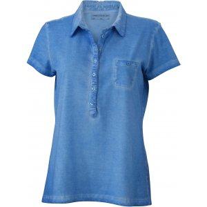 Dámské triko s límečkem fashion JAMES NICHOLSON JN987 HORIZON BLUE