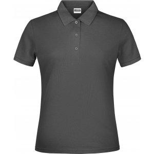 Dámské triko s límečkem classic JAMES NICHOLSON JN791 GRAPHITE