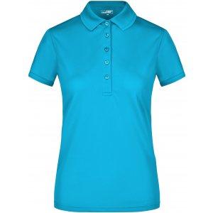 Dámské triko s límečkem funkční premium JAMES NICHOLSON JN574 TURQUOISE