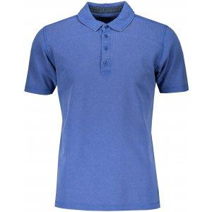 Pánské triko s límečkem fashion JAMES NICHOLSON JN712 ROYAL/NAVY WHITE