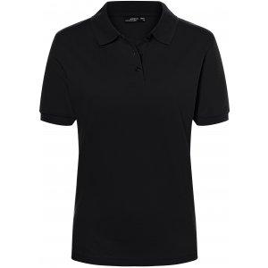 Dámské triko s límečkem premium JAMES NICHOLSON JN071 BLACK
