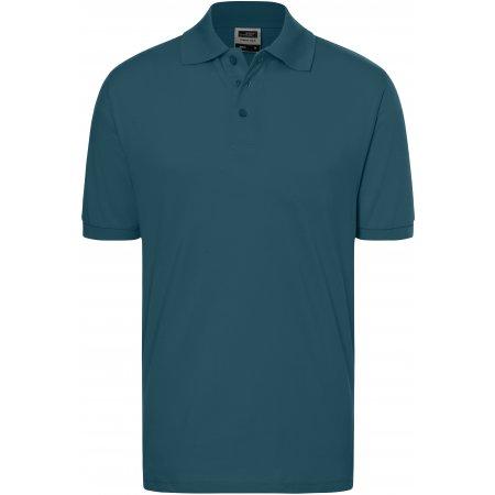 Pánské triko s límečkem premium JAMES NICHOLSON JN070 PETROL