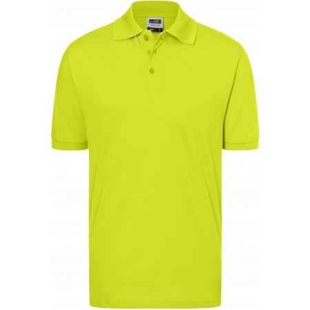 Pánské triko s límečkem premium JAMES NICHOLSON JN070 ACID YELLOW