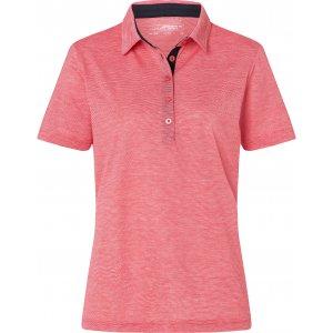 Dámské triko funkční s límečkem JAMES NICHOLSON JN753 RED/WHITE