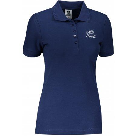 Dámské triko s límečkem ALTISPORT ALW056210 PŮLNOČNÍ MODRÁ