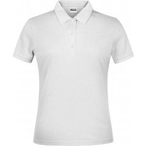 Dámské triko s límečkem classic JAMES NICHOLSON JN791 WHITE