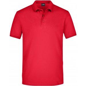 Pánské triko s límečkem elastic JAMES NICHOLSON JN710 RED